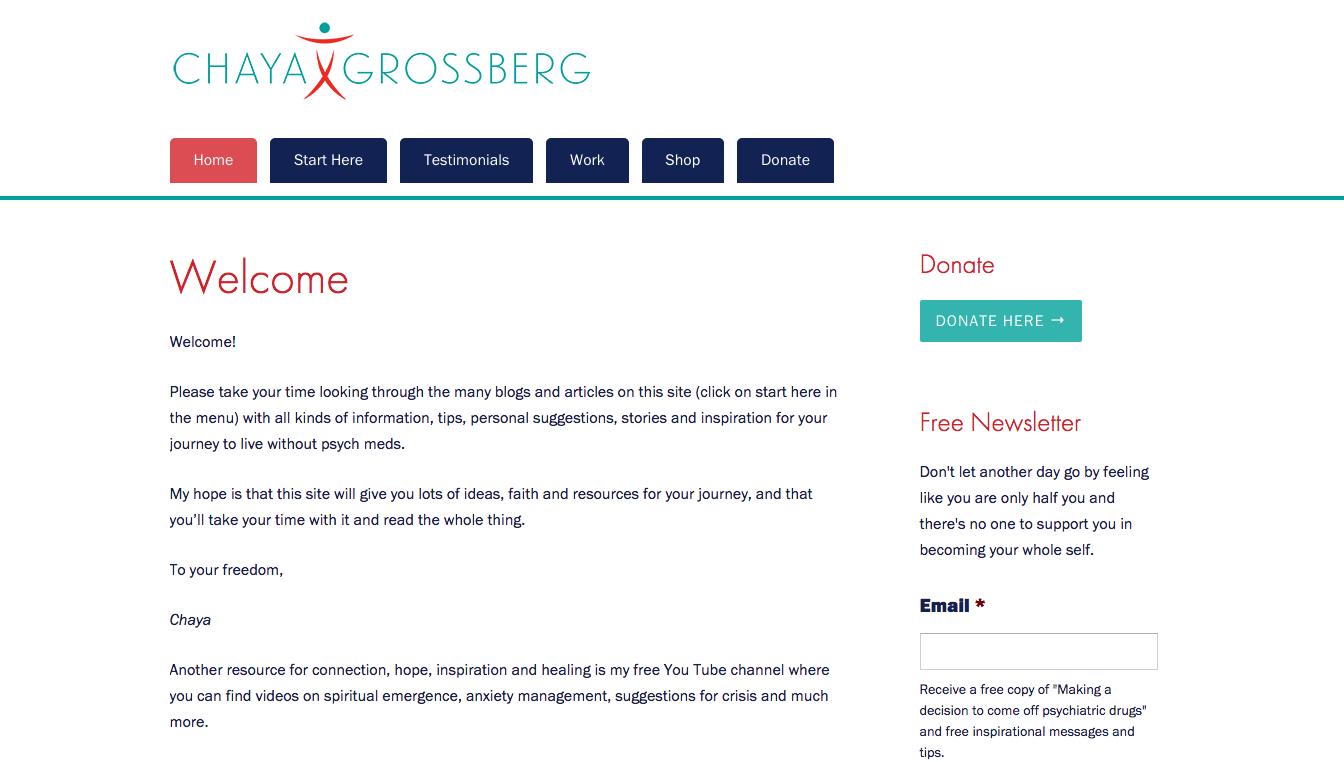 Hoppel Design website for Chaya Grossberg