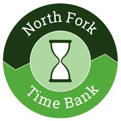 Logo for North Fork TimeBank, Designed by Adrian Hoppel