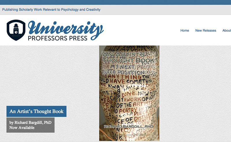 Hoppel Design website for University Professors Press